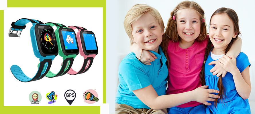 Wearable GPS tracker Device for Kids & Toddlers
