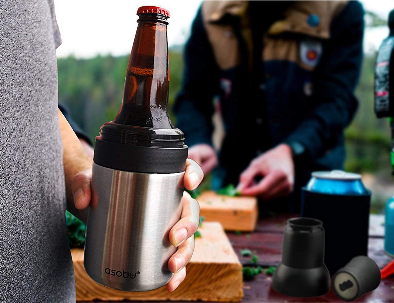 Asobu Double Wall Insulated Beer Bottle Chilled and Cooler for All the Avid Beer Lovers