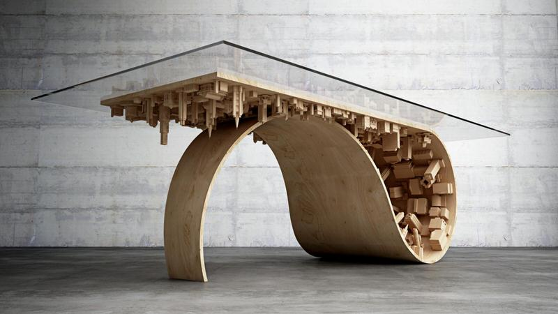 3d printed coffee table-gadgetany