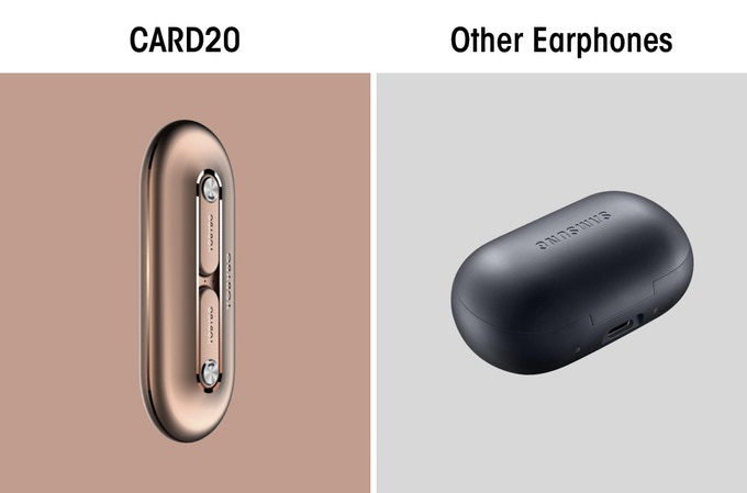 CARD20: Paper Thin TWS Headphones-GadgetAny