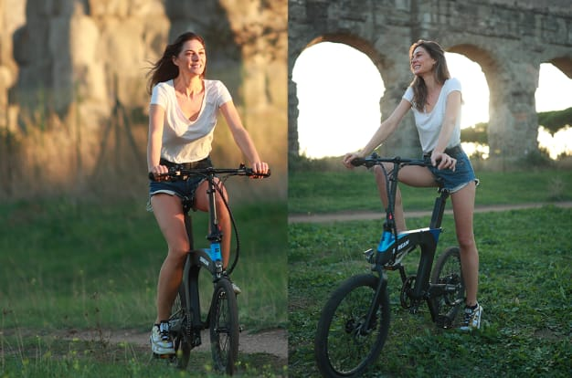 SDREAM Ur: Ultra-Comfy Suspension Folding E-Bike-GadgetAny