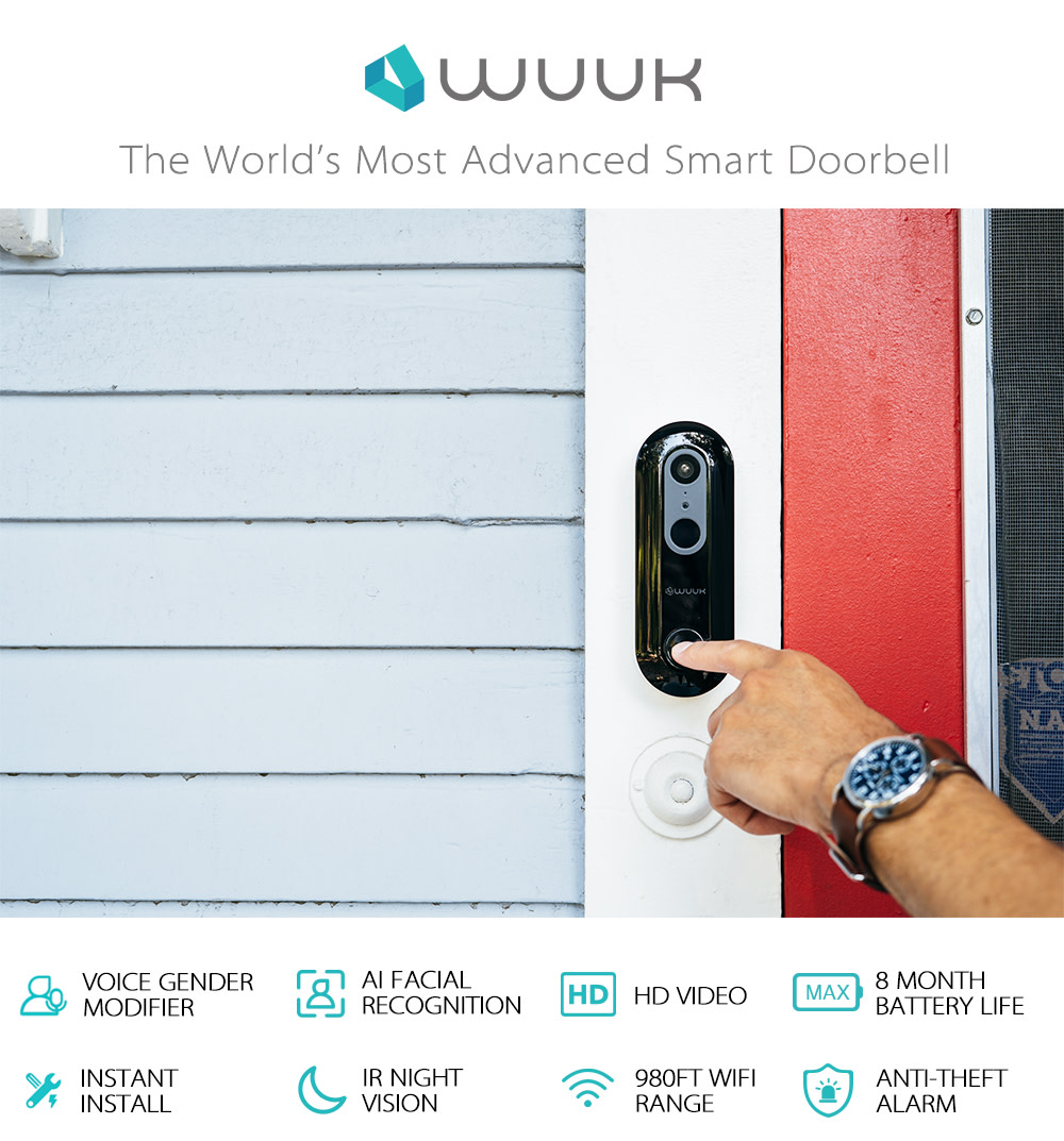 WUUK the World's Most Advanced Smart Doorbell-GadgetAny