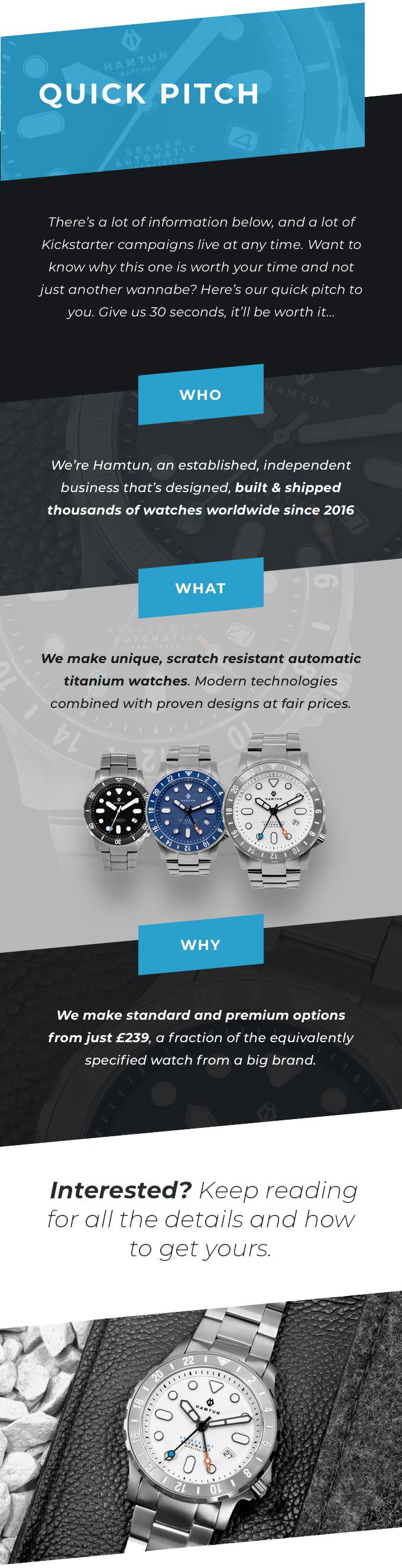 Hamtun Kraken H3. A titanium watch-GadgetAny