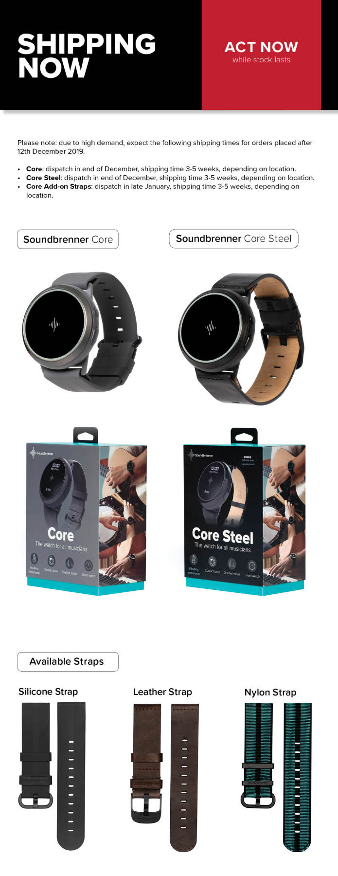 Soundbrenner Core: The 4-in-1 Smart Music Tool-GadgetAny