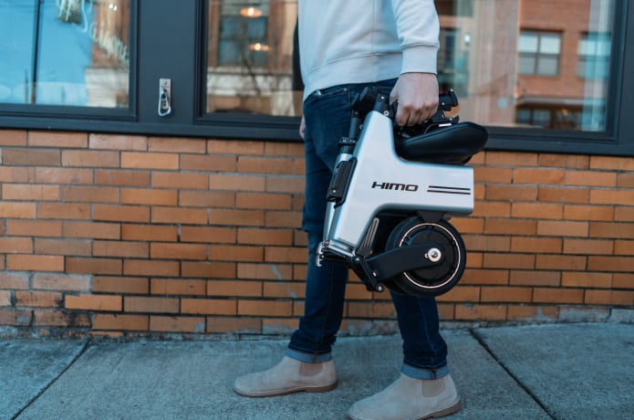 HiMo: Folding E-Bike That Goes with You Everywhere-GadgetAny