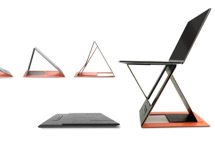 MOFT Z: The 4-in-1 invisible sit-stand laptop desk-GadgetAny